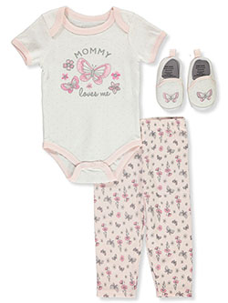 Baby Girls' 3-Piece Layette Set by Precious Moments in Multi, Infants