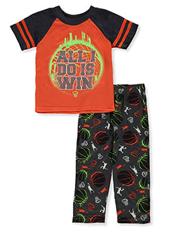 All I Do Is Win 2-Piece Pajamas by Tuff Guys in orange/multi and royal multi, Infants