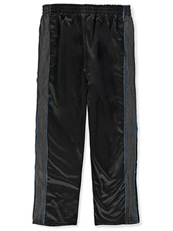 ACX Boys' Texture Stripe Track Pants by USAthlete in black multi, gray multi and navy/multi, Boys Fashion
