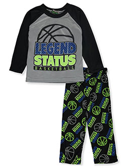 Boys' Legend Status 2-Piece Pajamas by Tuff Guys in gray multi and orange/multi, Boys Fashion