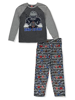 Tuff Guys Boys' End Zone 2-Piece Pajamas by Tuff in gray multi and royal blue/black, Boys Fashion