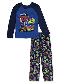 Tuff Guys Boys' Robots Activated 2-Piece Pajamas by Tuff in navy and red, Boys Fashion