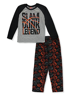 Tuff Guys Boys' Slam Dunk Legend 2-Piece Pajamas by Tuff in Black, Boys Fashion