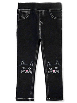 GIrls' Cat Knee Jeggings by Angel Face in Black/wash, Infants