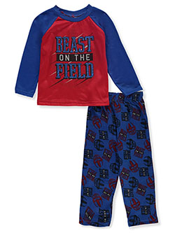 Boys' Beast on the Field 2-Piece Pajamas by Tuff Guys in Royal/multi