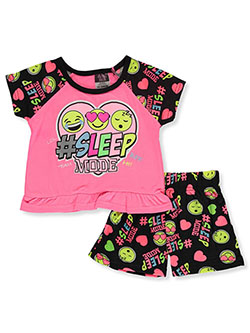 Baby Girls' #SleepMode 2-Piece Pajamas by Angel Face in Neon pink