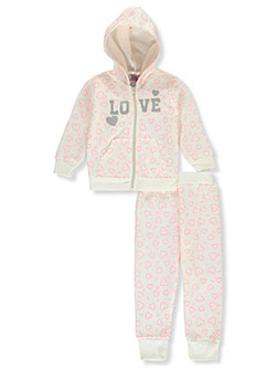 C/&C California Kids Girls Be Awesome 2-Piece Sweatsuit Outfit