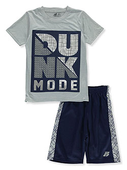 Dunk Mode 2-Piece Shorts Set Outfit by Pro Athlete in navy/multi and red/multi