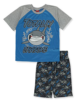 Boys' Jawsome 2-Piece Pajamas by Tuff Guys in blue/multi, gray multi and royal blue multi