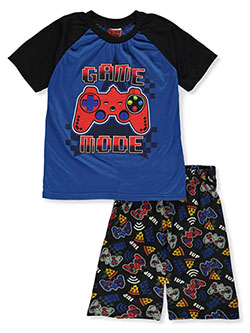 Boys' Game Mode 2-Piece Pajamas by Tuff Guys in gray multi and royal blue multi