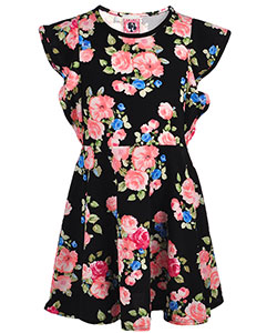 Dream Girl Big Girls' Skater Dress with Butterfly Sleeves (Sizes 7 – 16) - CookiesKids.com