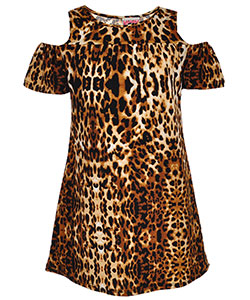 Dream Girl Big Girls' Cold Shoulder Dress (Sizes 7 – 16) - CookiesKids.com