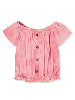 Girls' Tie-Dye Peasant Top by Dream Girl in Pink, Girls Fashion