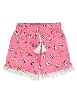 Girls' Panda Print Shorts by Dream Girl in Pink