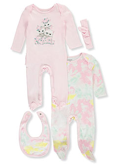 Tie Dye 4-Piece Layette Set by Tic Tac Toe in Pink, Infants