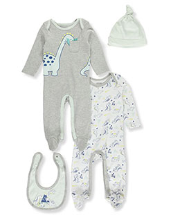 Dinosaur 4-Piece Layette Set by Tic Tac Toe in Multi, Infants