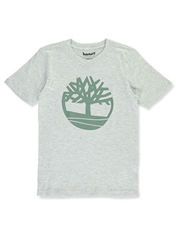 Boys' Nature T-Shirt by Timberland in Light heather gray - T-Shirts