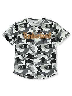 Boys' Repeat Camo T-Shirt by Timberland in Black - T-Shirts