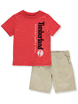 Established 2-Piece Shorts Set Outfit by Timberland in Multi