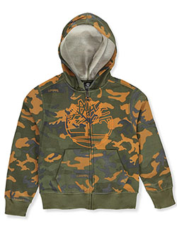 Boys' Camo Zip Hoodie by Timberland in Camo