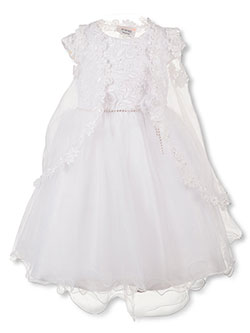 2-Piece Dress Set with Headband by Tip Top Kids in White