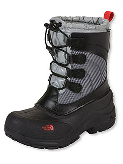 Girls Alpenglow Lace Boots by The North Face in Black/griffin gray, Shoes