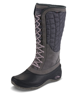 Women's Thermoball Utility Boots by The North Face in black/kokomo green and iron gate/quail gray