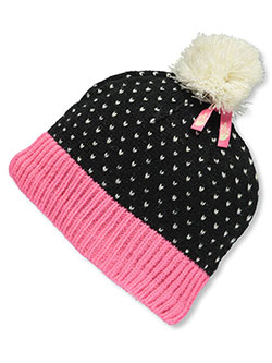 Youth Pom Pom Beanie by The North Face in Cha cha pink/black