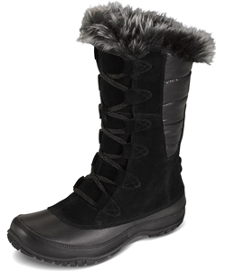 Women's Nupste Purna Boots by The North Face in iron gate/quail gray and shiney black/black