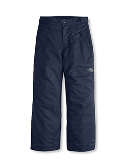 Big Boys' Freedom Pants by The North Face in black, cosmic blue and graphite gray