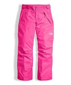 Youth Girls' Freedom Insulated Pant by The North Face in Petticoat pink
