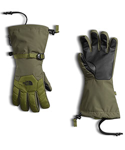 Boys' Revelstoke Etip Glove by The North Face in Burnt olive green/mayfly green