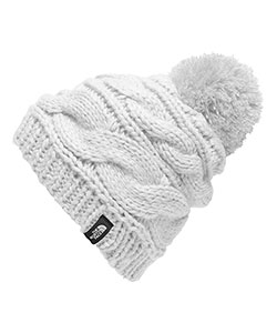 The North Face Women's Triple Cable Pom Beanie (One Size) - CookiesKids.com