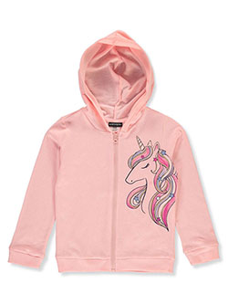 Girls' Unicorn Zip Hoodie by Kidtopia in Blush