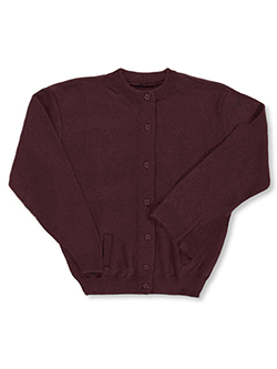 Control-Pil Cardigan by T.Q. Knits in Burgundy