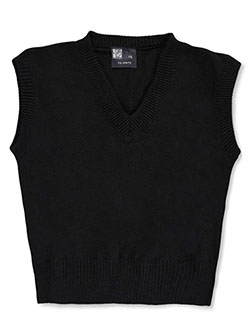 Unisex Sweater Vest by T.Q. Knits in black, burgundy, red and more