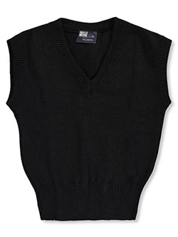 Unisex Sweater Vest by T.Q. Knits in black, burgundy, gray and red