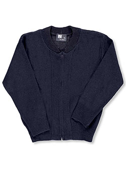 "Boys ""Ivy"" Zip-Up Sweater by T.Q. Knits in Navy"