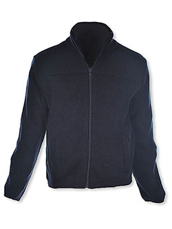 T. Q. Knits Control-Pil Zip-Up Sweater by T.Q. Knits in Navy