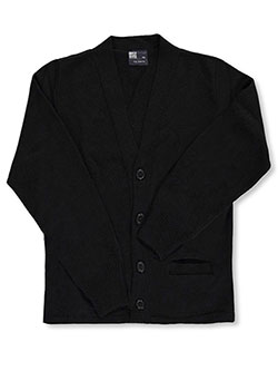 Unisex Control-Pil 4-Button Cardigan by T.Q. Knits in black, brown, red and more