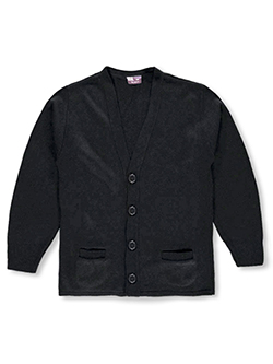 Adult Control-Pil 4-Button Cardigan by T.Q. Knits in black, burgundy and gray - $45.00