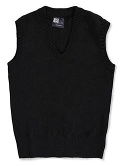 Adult Unisex Sweater Vest by T.Q. Knits in black, burgundy, gray, navy and red - $35.00