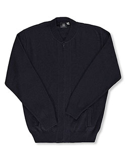 "Adult ""Ivy"" Zip-Up Sweater by T.Q. Knits in Navy - $39.99"