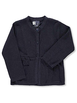 Toddler Control-Pil 3-Button Cardigan by T.Q. Knits in Navy