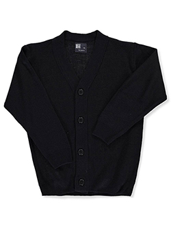 Boys' 4-Button Cardigan by T.Q. Knits in Navy