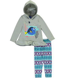 "Finding Dory Little Girls' Toddler ""Solo Swim"" 2-Piece Outfit (Sizes 2T – 4T) - CookiesKids.com"