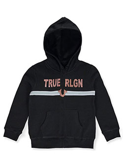 Girls' Rose Gold Logo Hoodie by True Religion in Black