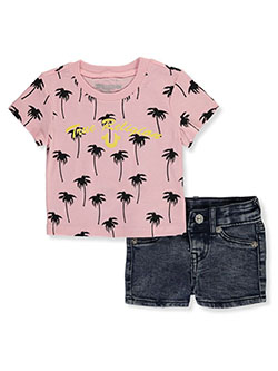 Tropical Glitter 2-Piece Shorts Set Outfit by True Religion in Multi