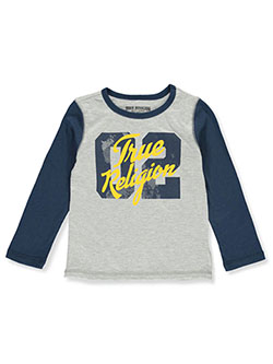 Boys' Long-Sleeved Graphic T-Shirt by True Religion in Heather gray