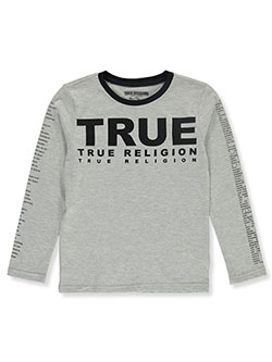 Boys' Graphic L/S T-Shirt by True Religion in Heather gray